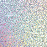 American Crafts - 12 x 12 Specialty Paper - Silver Holographic Sparkles