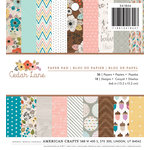 American Crafts - 6 x 6 Paper Pad - Cedar Lane