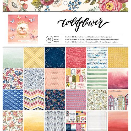 American Crafts - 12 x 12 Paper Pad - Wildflower