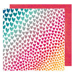 American Crafts - Hustle and Heart Collection - 12 x 12 Double Sided Paper - Love Wins