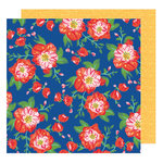 American Crafts - Hustle and Heart Collection - 12 x 12 Double Sided Paper - Coming Up Roses
