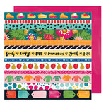 American Crafts - Hustle and Heart Collection - 12 x 12 Double Sided Paper - In A Row