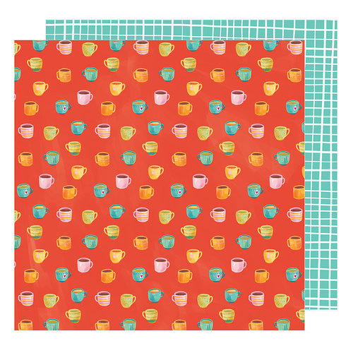 American Crafts - Hustle and Heart Collection - 12 x 12 Double Sided Paper - Rise and Shine