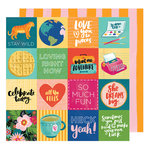 American Crafts - Hustle and Heart Collection - 12 x 12 Double Sided Paper - Fit to Be Square
