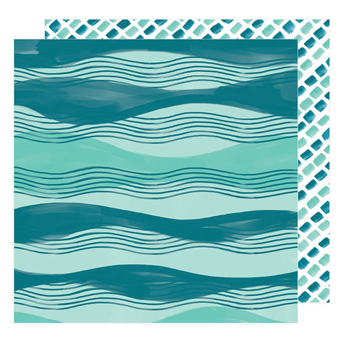American Crafts - Hustle and Heart Collection - 12 x 12 Double Sided Paper - Across The Waves
