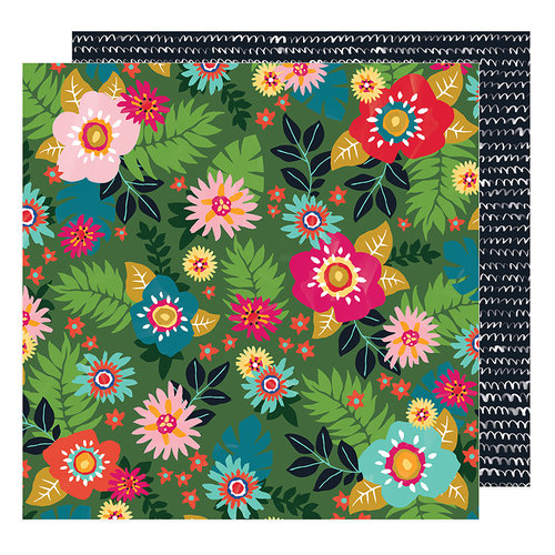 American Crafts - Hustle and Heart Collection - 12 x 12 Double Sided Paper - Floral Sensations