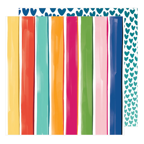 American Crafts - Hustle and Heart Collection - 12 x 12 Double Sided Paper - The Bright Side