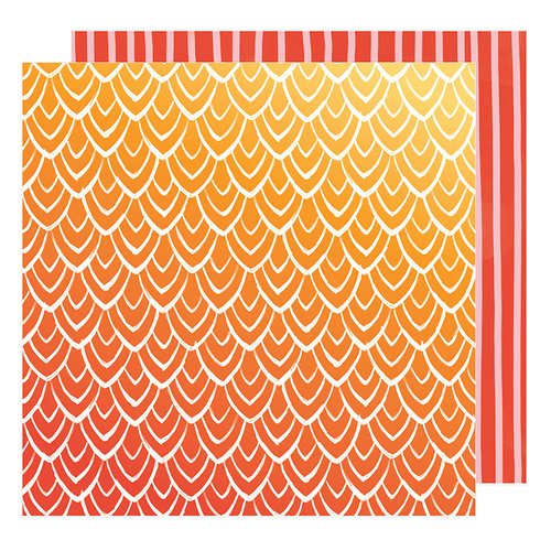 American Crafts - Hustle and Heart Collection - 12 x 12 Double Sided Paper - Hello Sunrise