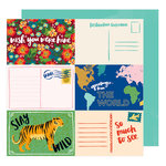 American Crafts - Hustle and Heart Collection - 12 x 12 Double Sided Paper - Stay Wild
