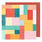 American Crafts - Hustle and Heart Collection - 12 x 12 Double Sided Paper - Patchwork Show