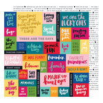 American Crafts - Hustle and Heart Collection - 12 x 12 Double Sided Paper - Cut It Out