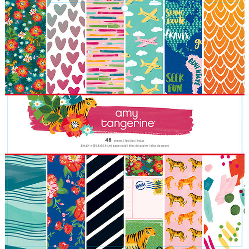 American Crafts - Hustle and Heart Collection - 12 x 12 Paper Pad