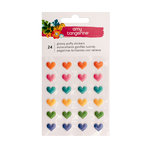 American Crafts - Hustle and Heart Collection - Puffy Stickers - Hearts