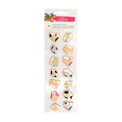 American Crafts - Hustle and Heart Collection - 3 Dimensional Stickers with Foil Accents - Diamond