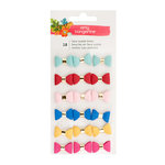 American Crafts - Hustle and Heart Collection - Mini Faux Suede Bows