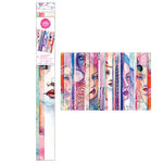American Crafts - Mixed Media 2 - Collage Paper Sheets - Faces