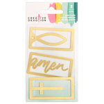 American Crafts - Creative Devotion Collection - Thin Clip - Gold Metal
