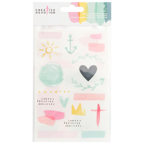 American Crafts - Creative Devotion Collection - Rub Ons
