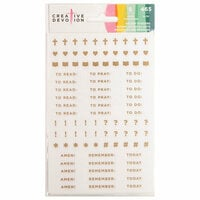 American Crafts - Creative Devotion Collection - Cardstock Stickers - Accents - Mini with Gold Accents