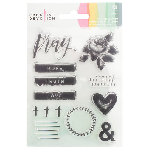 American Crafts - Creative Devotion Collection - Clear Acrylic Stamps - One