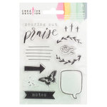 American Crafts - Creative Devotion Collection - Clear Acrylic Stamps - Two