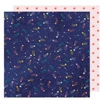 American Crafts - Star Gazer Collection - 12 x 12 Double Sided Paper - Falling Stars
