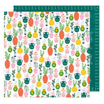 American Crafts - Star Gazer Collection - 12 x 12 Double Sided Paper - Green Thumb