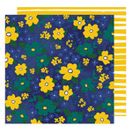 American Crafts - Star Gazer Collection - 12 x 12 Double Sided Paper - Wildflowers