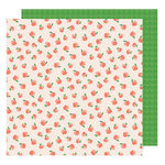 American Crafts - Star Gazer Collection - 12 x 12 Double Sided Paper - Just Peachy