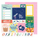 American Crafts - Star Gazer Collection - 12 x 12 Double Sided Paper - Adventure
