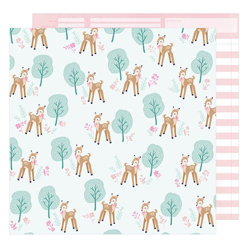 American Crafts - Star Gazer Collection - 12 x 12 Double Sided Paper - Woodland Wonder
