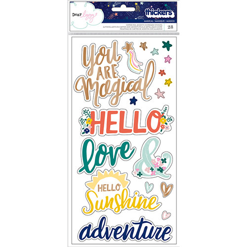 American Crafts - Star Gazer Collection - Thickers - Phrase - Copper Foil