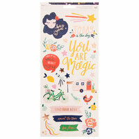 American Crafts - Star Gazer Collection - Cardstock Stickers with Foil Accents - Accents and Phrases