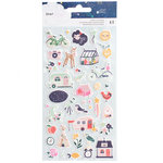 American Crafts - Star Gazer Collection - Puffy Stickers