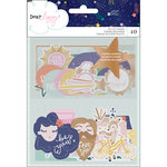 American Crafts - Star Gazer Collection - Ephemera with Foil Accents