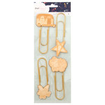 American Crafts - Star Gazer Collection - Paper Clip Wood Icons