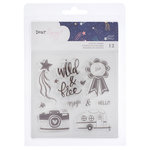 American Crafts - Star Gazer Collection - Clear Acrylic Stamps