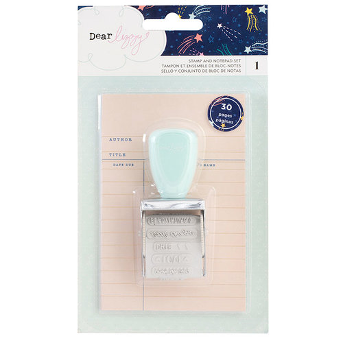 American Crafts - Star Gazer Collection - Stamp and Notepad Set