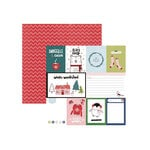 American Crafts - Sweater Weather Collection - 12 x 12 Double Sided Paper - Snuggles Cocoa