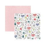 American Crafts - Sweater Weather Collection - 12 x 12 Double Sided Paper - Winter Wonderland