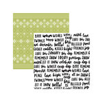 American Crafts - Sweater Weather Collection - 12 x 12 Double Sided Paper - Happy Winter