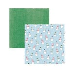 American Crafts - Sweater Weather Collection - 12 x 12 Double Sided Paper - Snow Friends