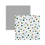 American Crafts - Sweater Weather Collection - 12 x 12 Double Sided Paper - Twinkle