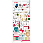 American Crafts - Sweater Weather Collection - Cardstock Stickers with Foil Accents