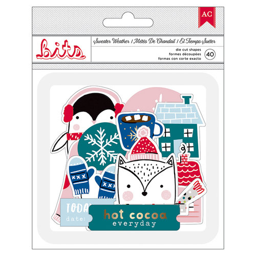 American Crafts - Sweater Weather Collection - Ephemera with Foil Accents