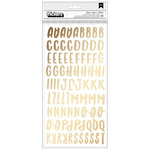 American Crafts - Sweater Weather Collection - Thickers - Alpha - Gold Foil