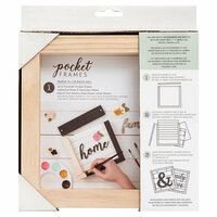 American Crafts - Details 2 Enjoy Collection - Pocket Frames - 6 x 5.5 - Do-It-Yourself