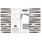 American Crafts - Monthly Planner - Black and White Stripes