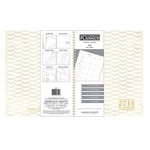 American Crafts - Monthly Planner - White Chevron