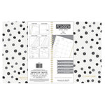American Crafts - Monthly Planner - Black and White Polka Dot
